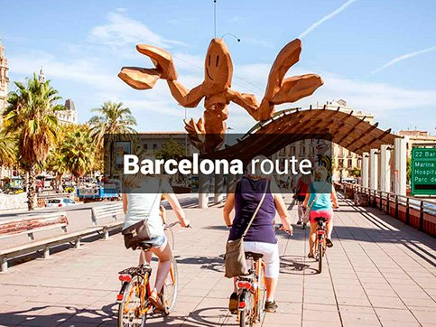 Barcelona bike route