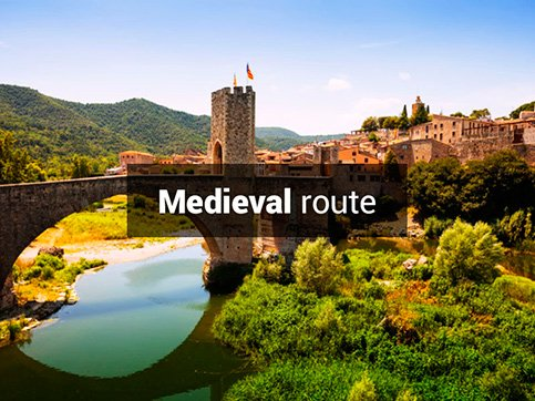 Medieval bike route Costa- Brava Barcelona Spain